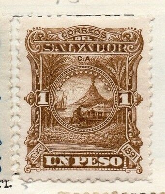 Salvador 1891 Early Issue Fine Mint Hinged 1P. 148185