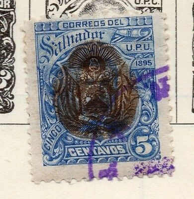 Salvador 1895 Early Issue Fine Used 5c. 148202
