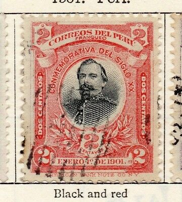 Peru 1901 Early Issue Fine Used 2c. 148206