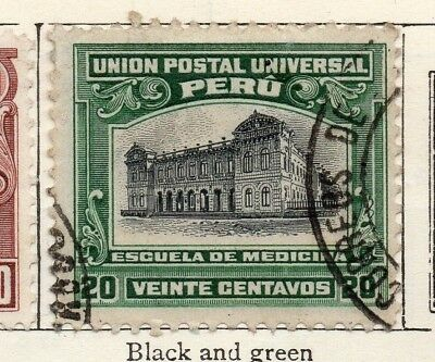 Peru 1907 Early Issue Fine Used 20c. 148217