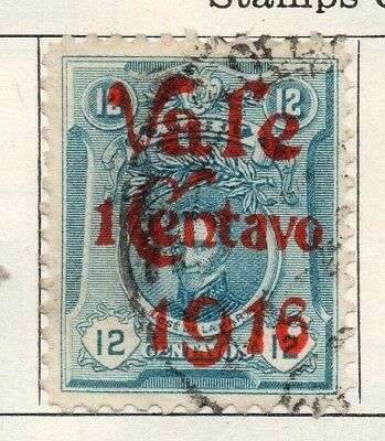 Peru 1916 Early Issue Fine Used 12c. Optd 148228
