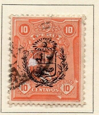 Peru 1930 Early Issue Fine Used 10c. Optd 148258