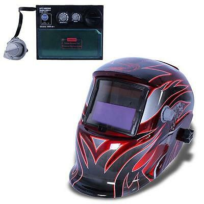 Pro Solar Auto Darkening Welding Helmet Arc Tig Mig Grind Mask Power Tips #R LN