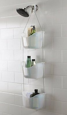 Umbra BASK Hanging 3 Tier SHOWER CADDY Bathroom Organiser TIDY White
