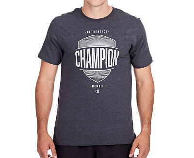 Champion Men's VT Shield Tee - Jet Heather