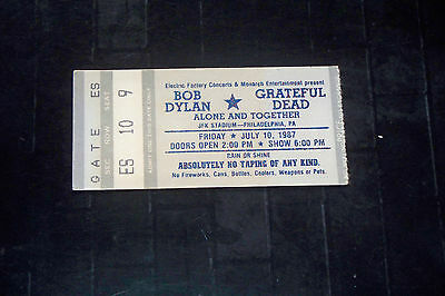 Grateful Dead/bob Dylan 1987 Ticket Stub**jfk Stadium**philadelphia*july 10 1987