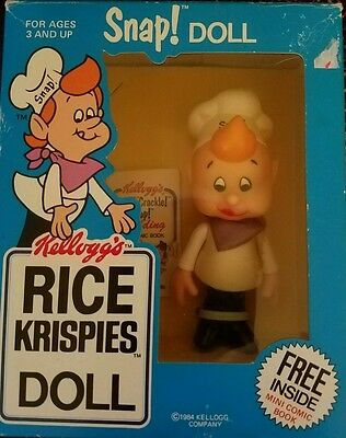 Kellogg's 1984 Vinyl Snap Doll In Original Packaging - Rice Krispies Collectible
