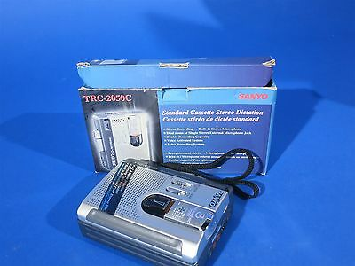Sanyo TRC-2050C Standard Cassette Dictating Talk Book Compact Dictaphone