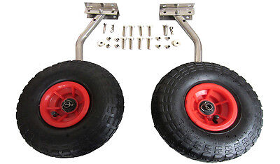 Small Boat Launching Wheels For Inflatable Aluminum Fiberglass Trolley