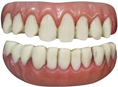 MOVIE QUALITY FX Long Tooth Cracked Realistic False Teeth Costume Prosthetic