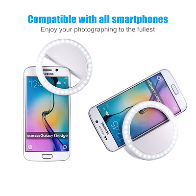 Best Cell Phone Ring Light Selfie Picture Charger Clip Lighting iphone Android