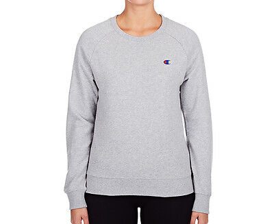 Champion Women's Logo Crew - Oxford Heather