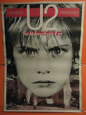 "Ultra Rare - U2 Original 1985 Belgium Unforgettable Fire Tour Poster 24"" X 34"""