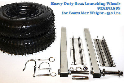 Heavy Duty Launching wheels -Stainless MAX LOAD 450 LBS