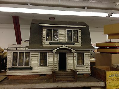Vintage Antique Folk Art Architecture House Display Early Old Rare Crafted USA