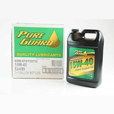 15W40 Diesel Motor Oil Semi Synthetic Case Of 3 X 1 Us Gallon Cj-4