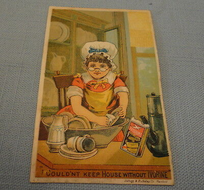 Antique Ad Card -  Late 1800s   - IVORINE SOAP