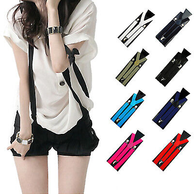 Men's Women's Fashion Elastic Clip-on Suspenders Y-Shape Adjustable Braces Witty