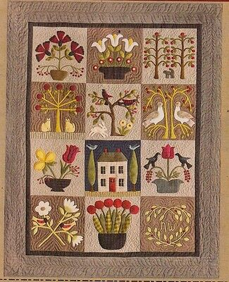 At Home in the Garden - pieced & applique quilt PATTERN - Timeless Traditions