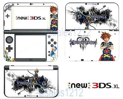 Anime Kingdom Hearts 3 Vinyl Decals Skin Stickers for Nintendo New 3DS XL 2015