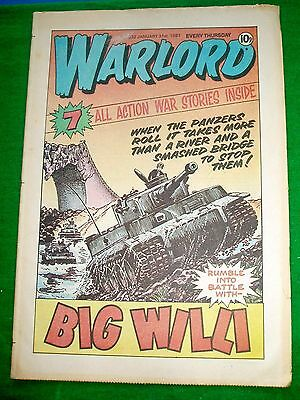Warlord Comic 31/1/81 With  Royal Navy Hovercraft   Colour Photo Poster Page