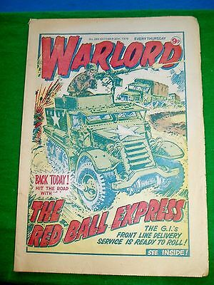 Warlord Comic  20/10/79 With  M.24 Chaffee Tank  Colour Poster Page