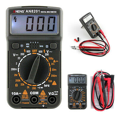 Pocket Mini Digital Multimeter Backlight AC/DC Ammeter Voltmeter Ohm Tester