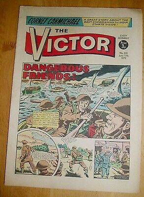 Kings Own Scottish Borderers  Ww2 Cover Story Victor Comic 1972