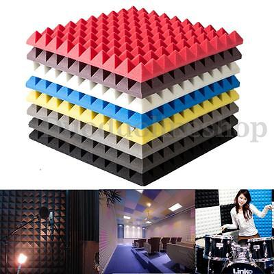 500x500x55mm Acoustic Soundproof Sound Stop Absorption Pyramid Studio Foam Board
