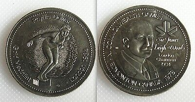 Collectable Commonwealth Games Token - Phyllis Dewar - Gold Medalist London 1934