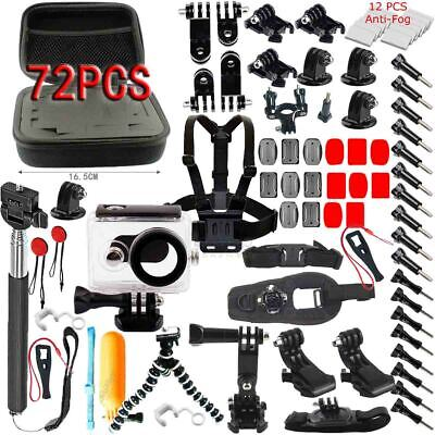 72 In 1 Accessories Kit Bundle For Gopro Hero 5 4 3 2 1 Session Mount Lcd Go Pro