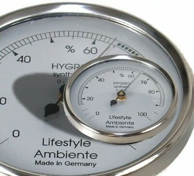 Lifestyle-Ambiente Profi-Haarhygrometer silber-klein Made in Germany