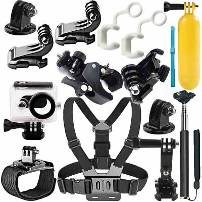 12in1 Head Chest Mount Floating Monopod Accessories Kit For GoPro 2 3 4 5 Camera