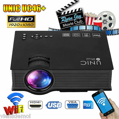 LED LCD 3D WIFI HD 1080p HD Projector Home Theater Multimedia for Iphone Android