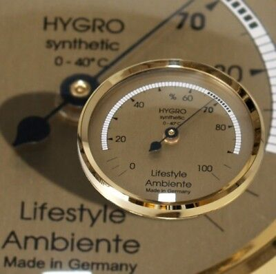 Lifestyle-Ambiente Profi-Humidor-Haar-Hygrometer gold-groß Made in Germany