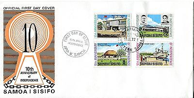 Samoa 1972 10th Anniv of Independence FDC