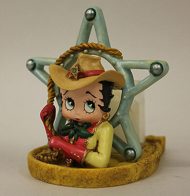 Betty Boop Cowgirl Candle Holder with box, Vandor