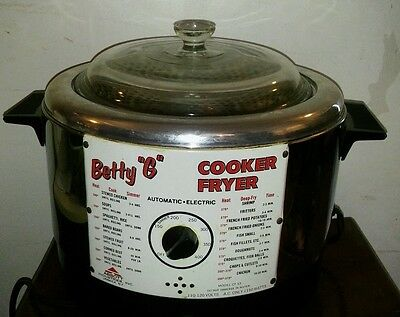 "Vintage Betty ""g"" Cooker / Deep Fryer 150 - 400 Degrees"