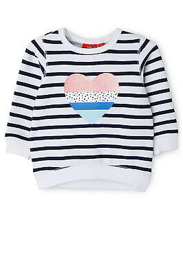 NEW Sprout Girls Crew Neck Sweat Top Navy Multi