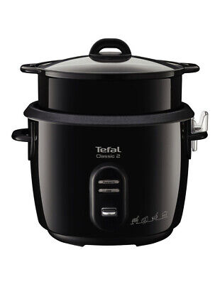NEW Tefal Classic Sparkling Rice Cooker Black 700W RK103
