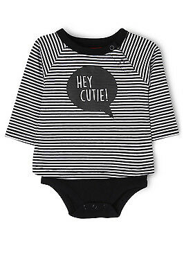 NEW Sprout Long Sleeve Bodysuit Blk/White