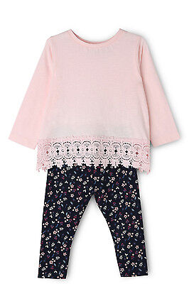 NEW Sprout Lace Trim Tee and Legging Set Pink
