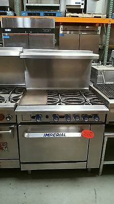 """36"""" Imperial Range Stove 4 Burner With 12 Inch Standard Oven"""