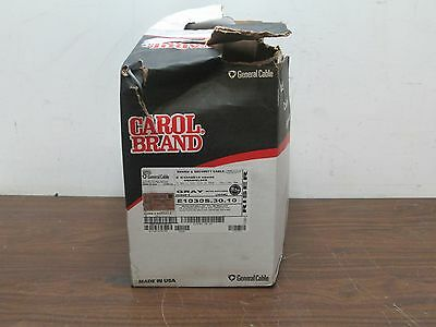 General Cable Carol Brand E1030S.30.10 2C 18G 1000' Gray Sound Security Cable
