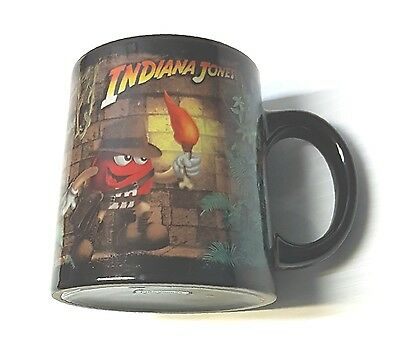 Indiana Jones M&M Coffee Mug/Tea Cup Black Wide Bottom Narrow Top - 12 oz-354 ml