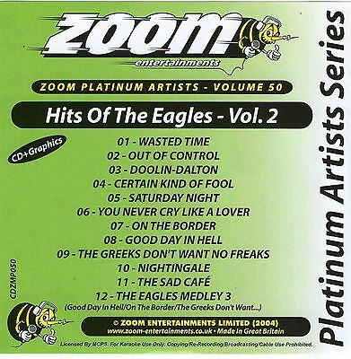 Zoom Karaoke CD+G Platinum Artists 50 Hits Of The Eagles Volume 2 New Sealed