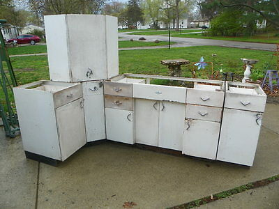 5 Vintage Youngstown Kitchen Cabinets By Mullins Metal Boomerang Handles 50 S 499 99 Picclick