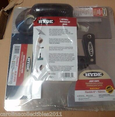 Hyde 09085 Drywall Finishing Kit - 4 Piece Tool Bundle
