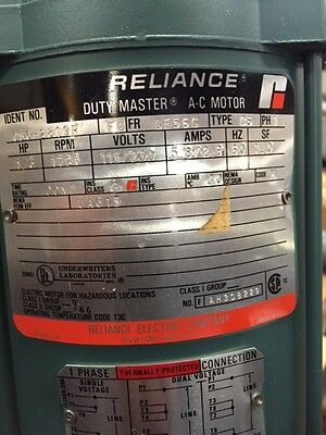 Reliance Explosion Proof 1/3hp electric motors