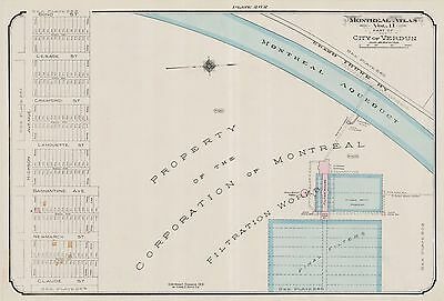 1913, Charles E. Goad, Canada, Montreal Filtration Works, Copy Plat Atlas Map